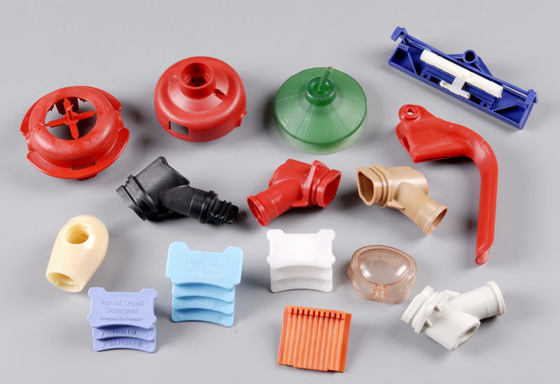 Plastic Parts from Hot Runner Injection Mold & Silicone Mold